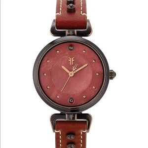 NEW! Frye red leather watch